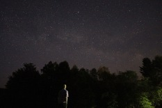 Author and the Milky Way, Shelburne, N.H.