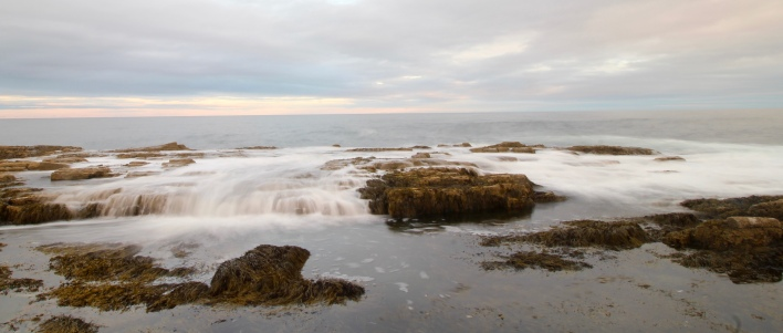 "Breaking waves, 2"" exposure, Cape Elizabeth, Maine"