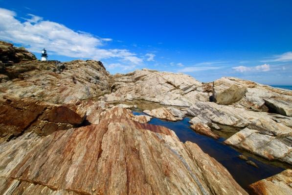 Rocks at Portland Head Lighthouse, Cape Elizabeth, Maine.