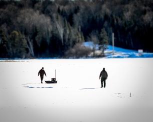 Ice fishermen, Northern N.H.