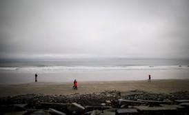 Beach walkers, Hampton Beach, NH