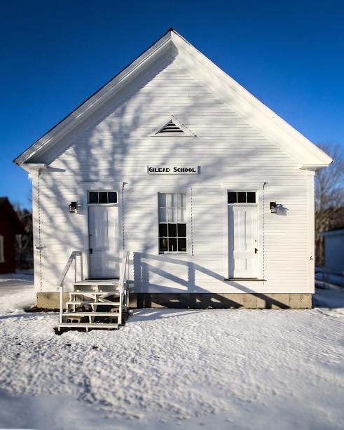 Old school building, Gilead, Maine.