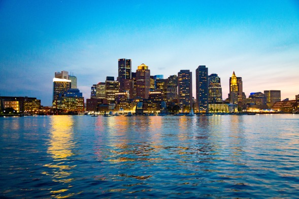 Boston from Boston Harbor, August 2017