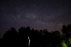 The Milky Way and me, Shelburne, N.H., June 2016