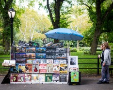 Souvenir cart, Central Park, September 2017.