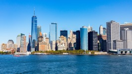 Lower Manhattan and One World Trade Center, New York, N.Y.