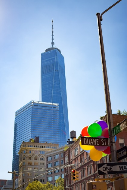 One World Trade Center building from Greenwich Village, New York, N.Y.