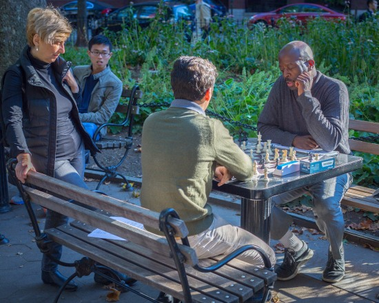 Chess players in Washington Square Park, New York, N.Y.