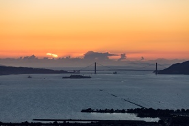 Sunset, San Francisco Bay, November 2017