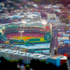 Fenway Park from Prudential Building Observation Deck, Boston, September 2017