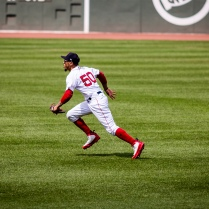 Boston Red Sox outfielder Mookie Betts, Fenway Park, Boston, August 2018