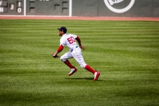 Boston Red Sox outfielder Mookie Betts, Fenway Park, Boston, August 2018